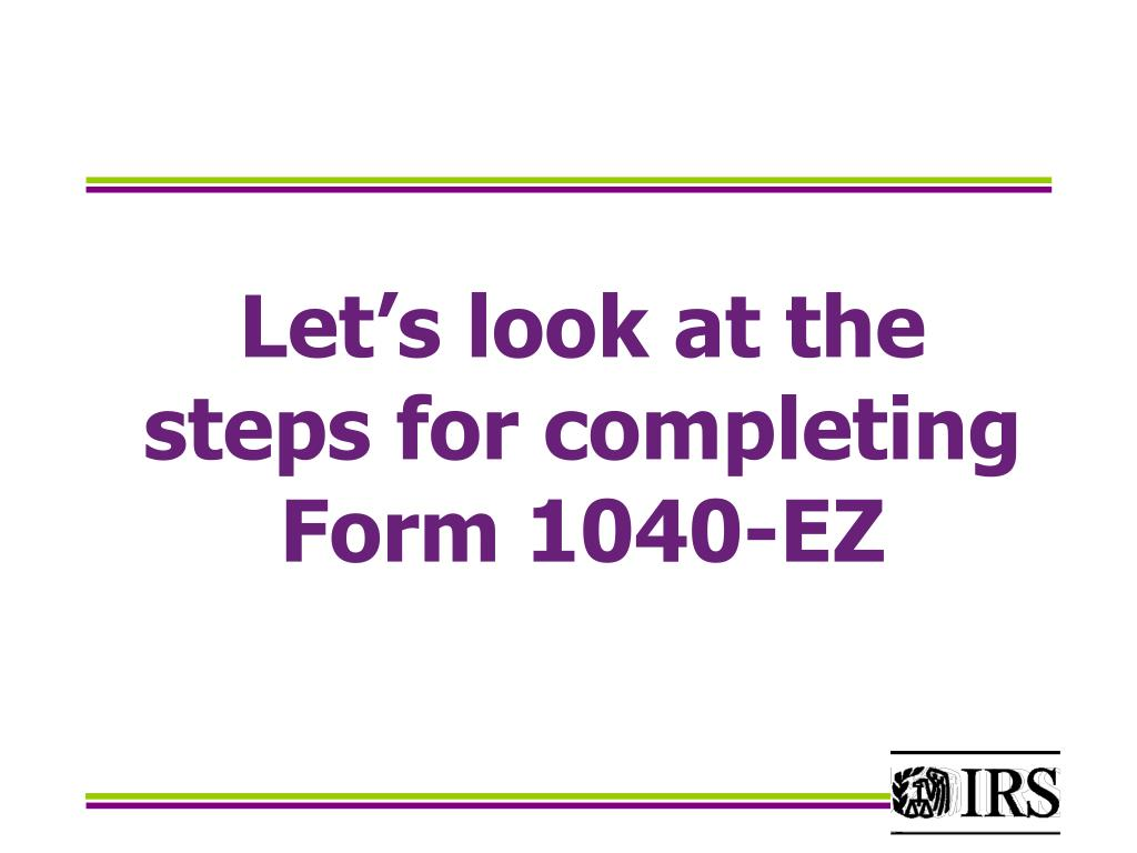 Let's look at the steps for completing