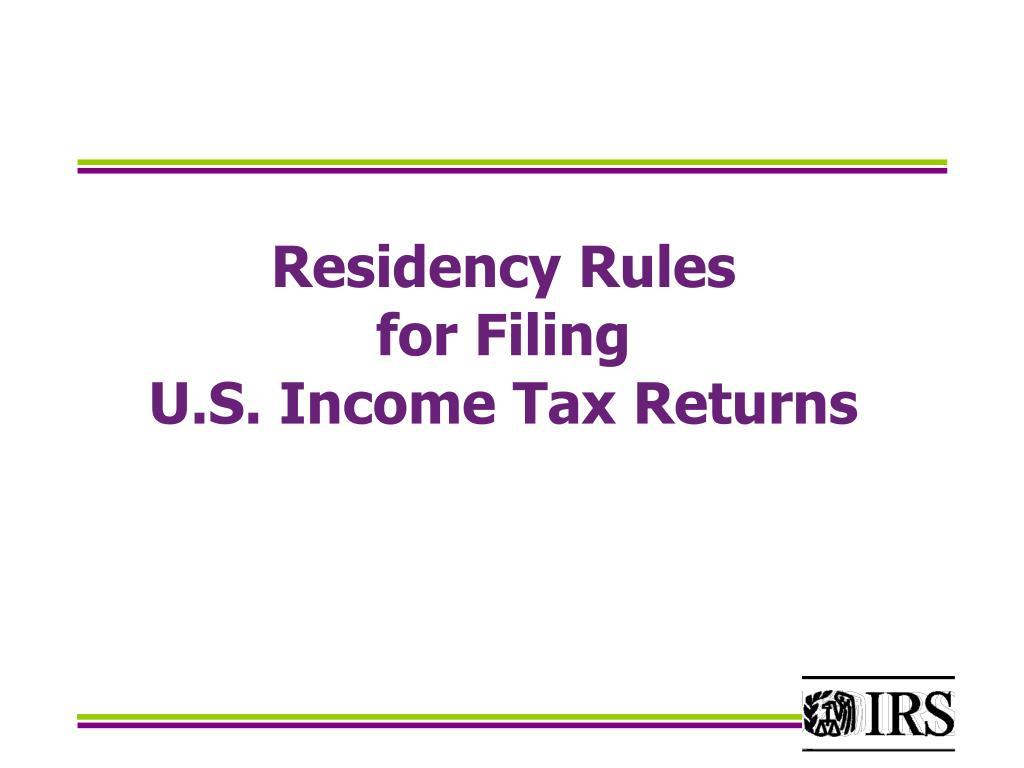 Residency Rules