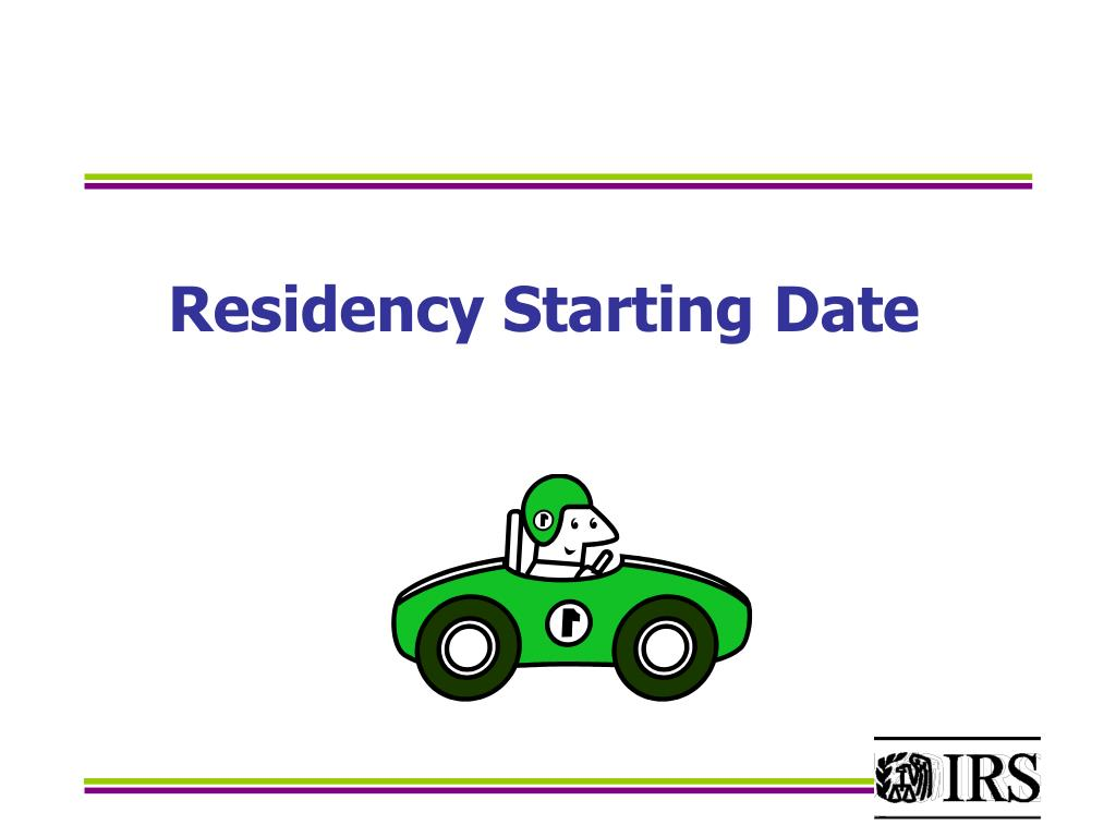 Residency Starting Date