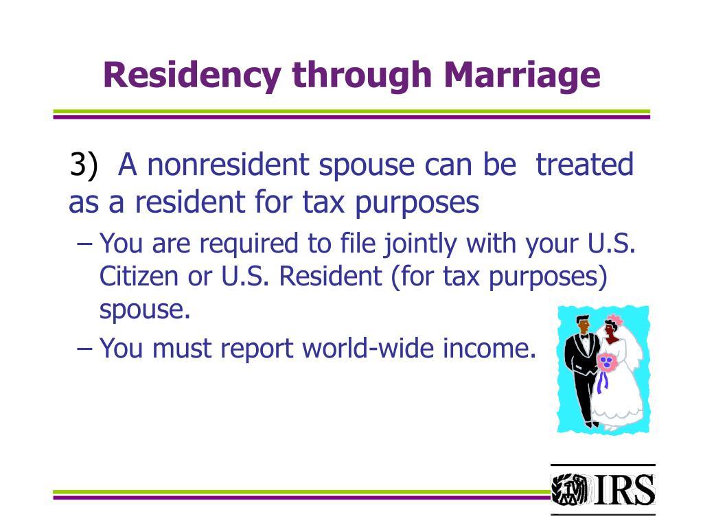 Residency through Marriage