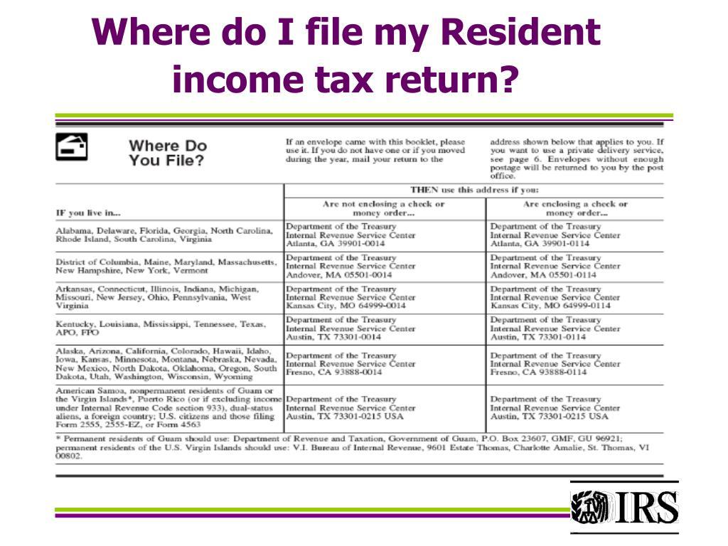 Where do I file my Resident