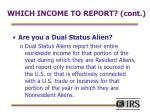 which income to report cont