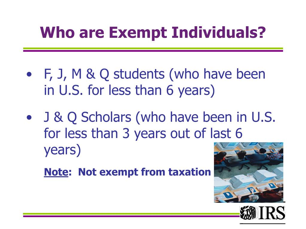 Who are Exempt Individuals?