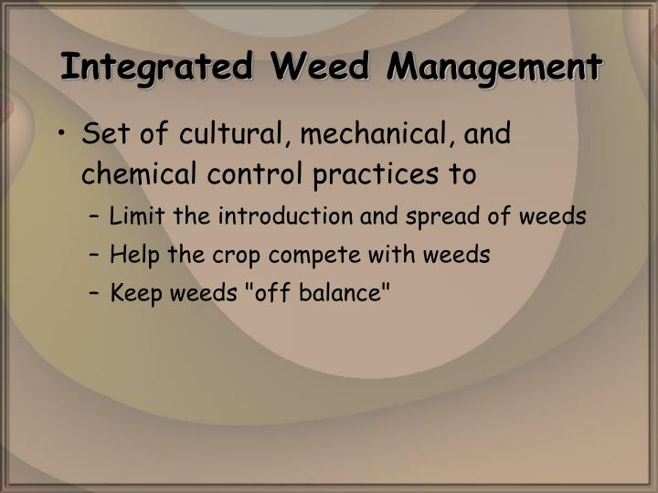 Integrated weed management l.jpg