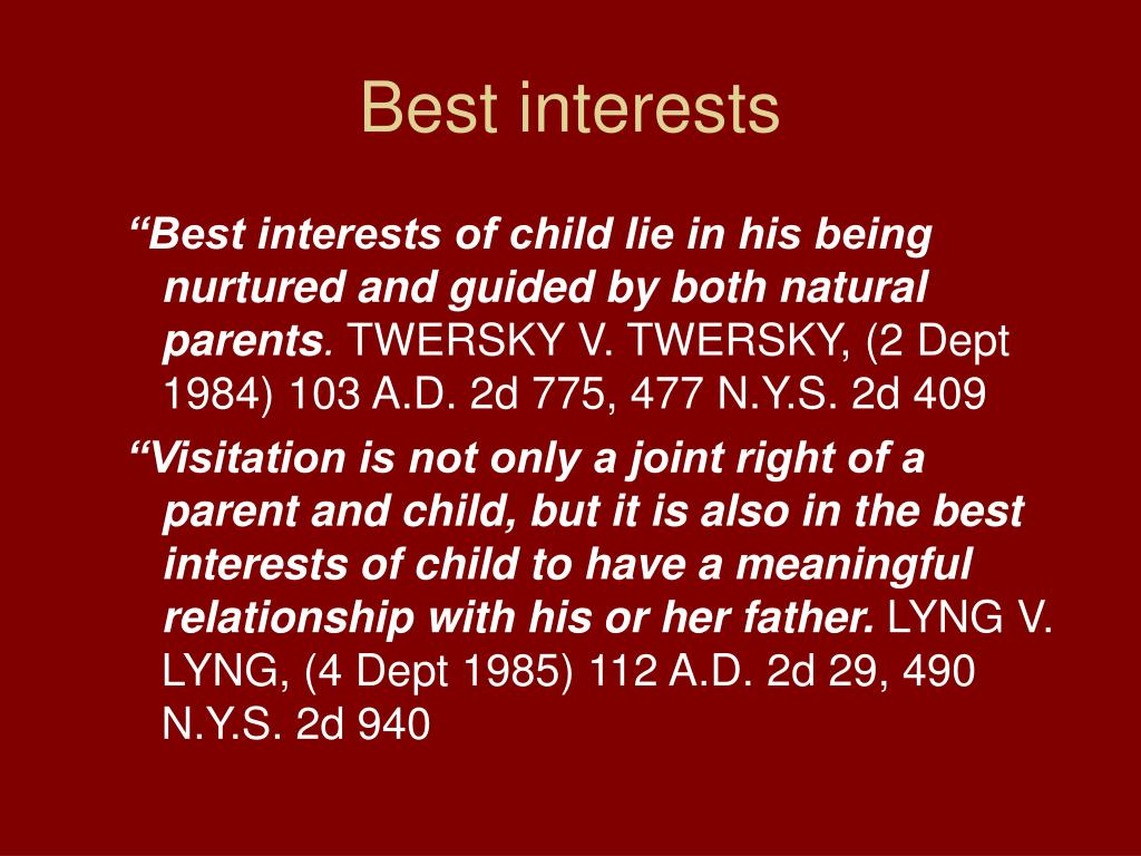 Best interests