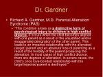 dr gardner