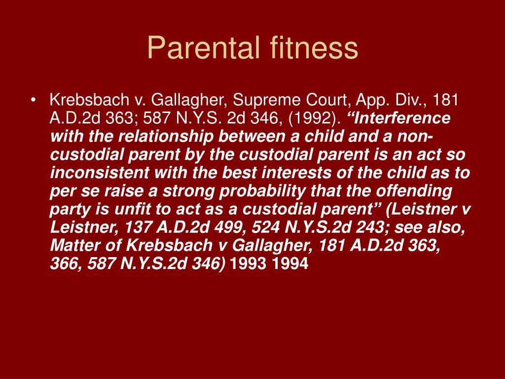Parental fitness