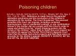 poisoning children