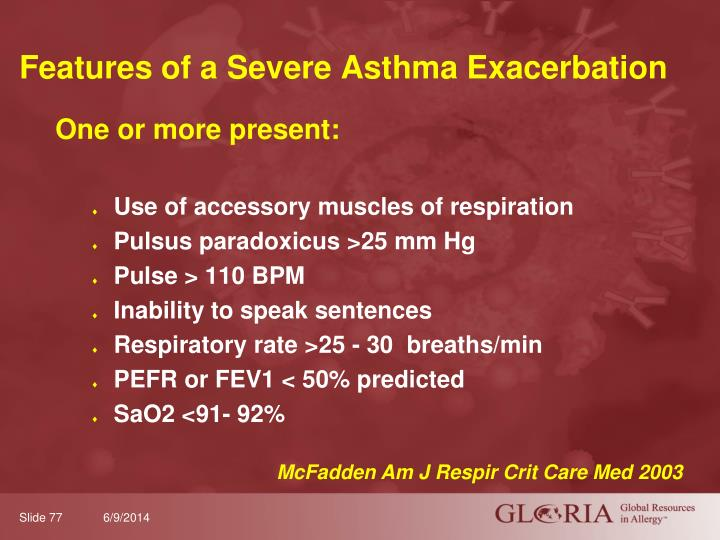 Features of a Severe Asthma Exacerbation