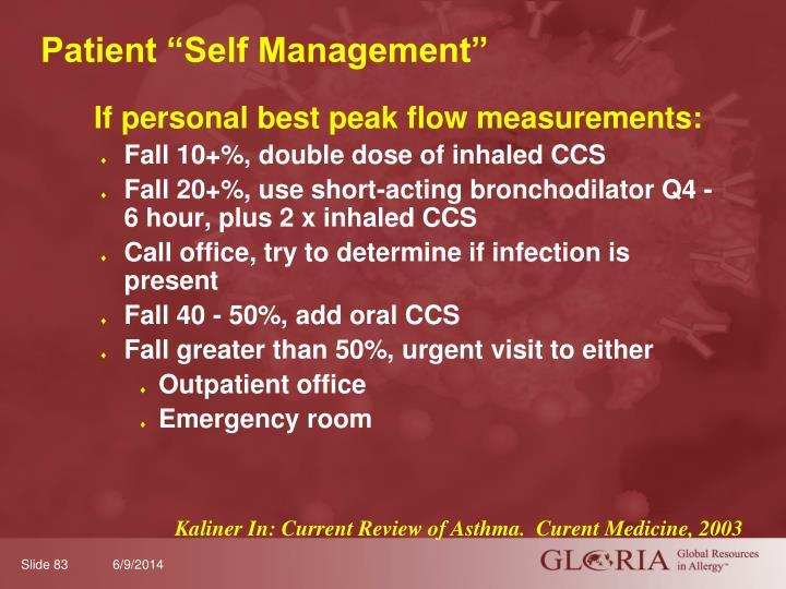 """Patient """"Self Management"""""""