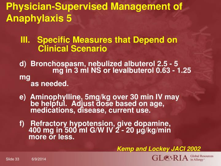 Physician-Supervised Management of Anaphylaxis 5