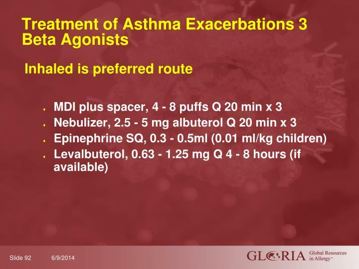 Treatment of Asthma Exacerbations 3