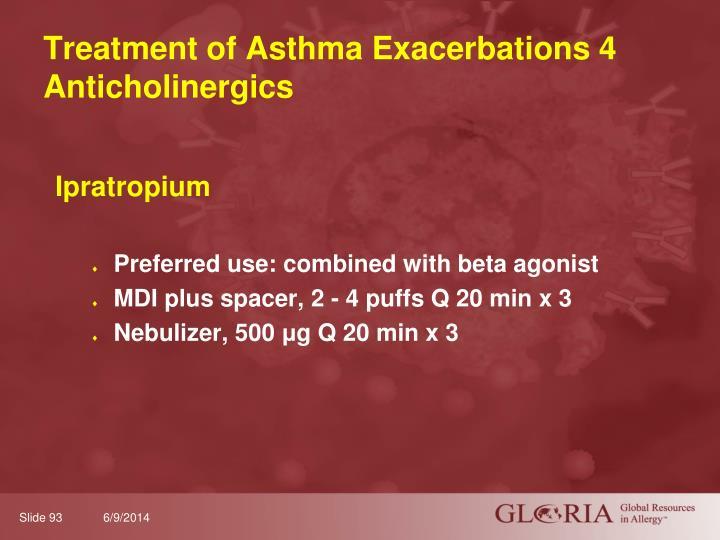 Treatment of Asthma Exacerbations 4