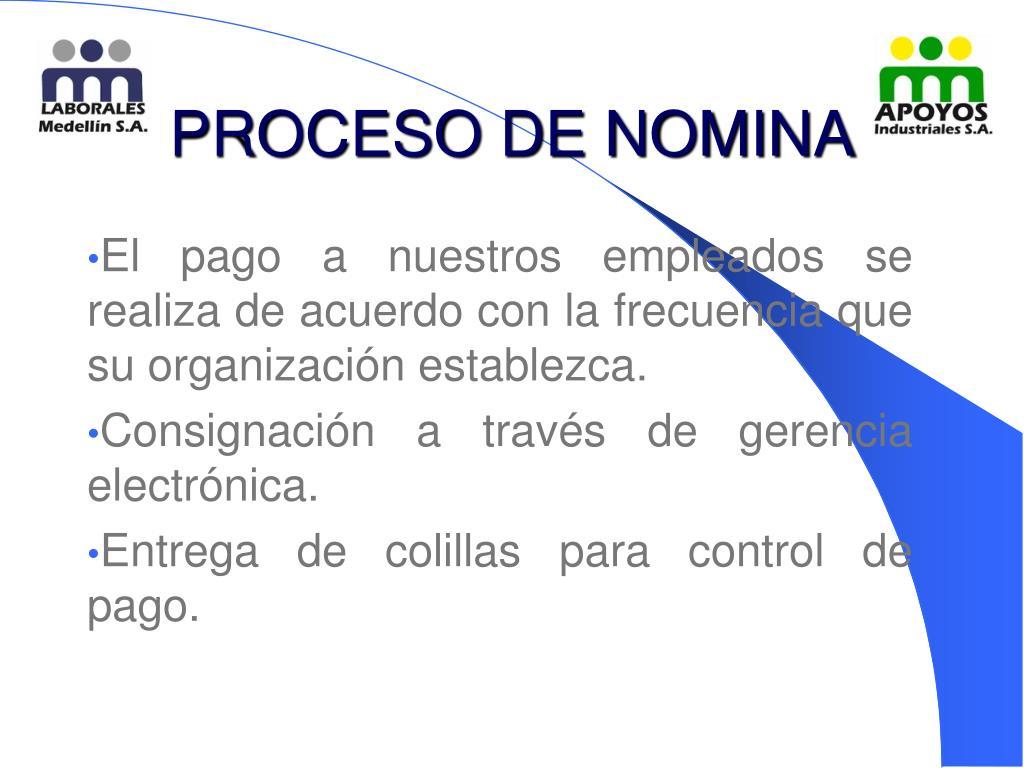 PROCESO DE NOMINA