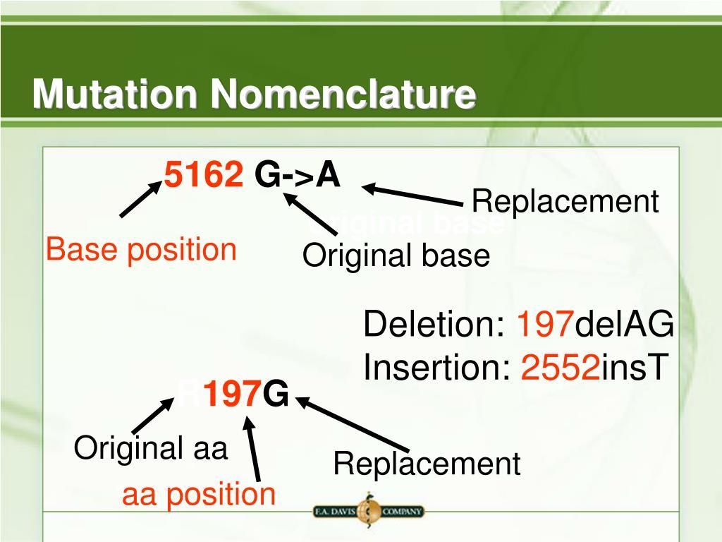 Mutation Nomenclature
