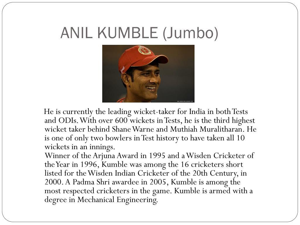 ANIL KUMBLE (Jumbo)