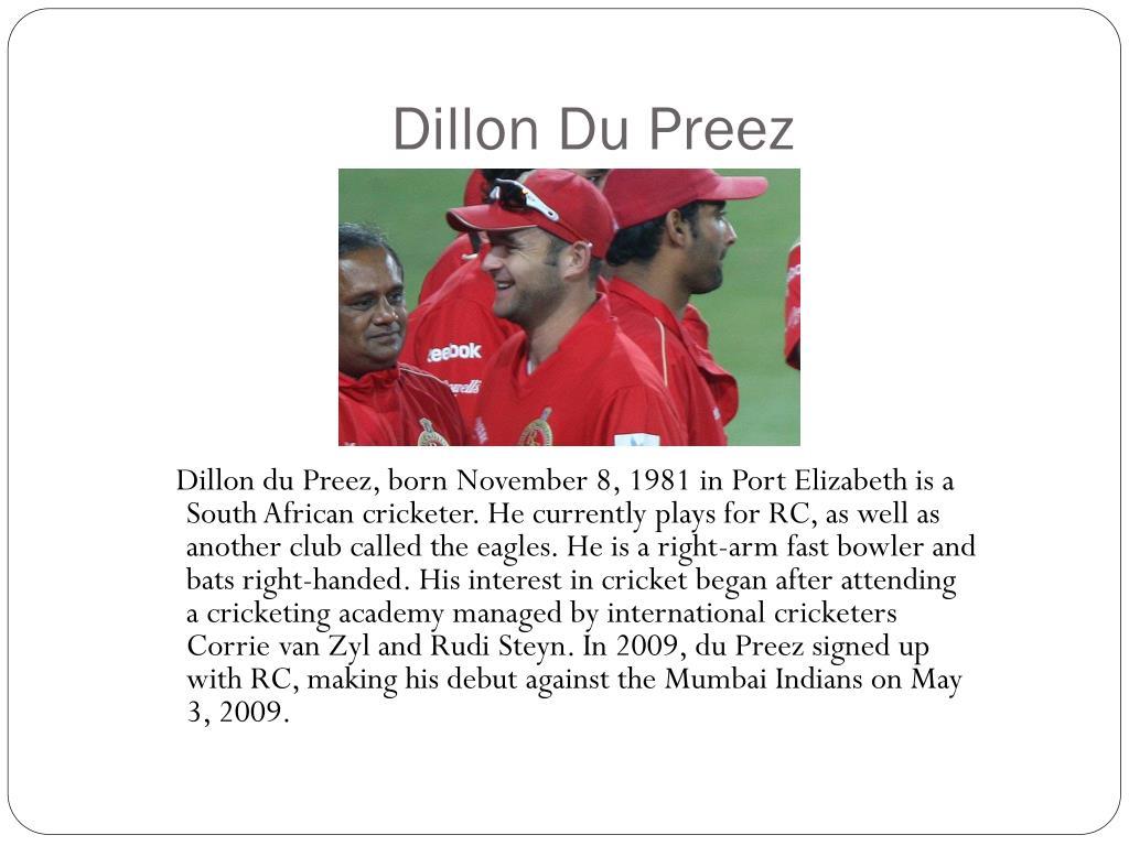 Dillon Du Preez