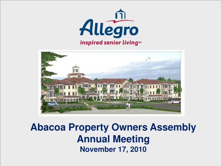 Abacoa Property Owners Assembly
