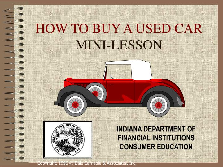 How to buy a used car mini lesson