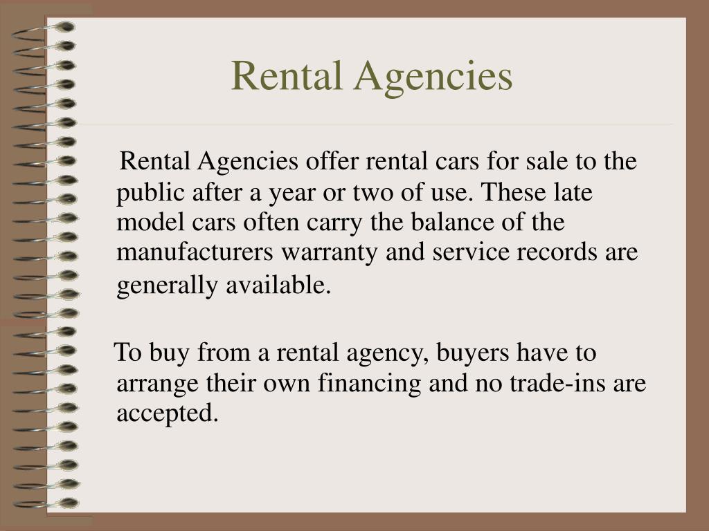 Rental Agencies