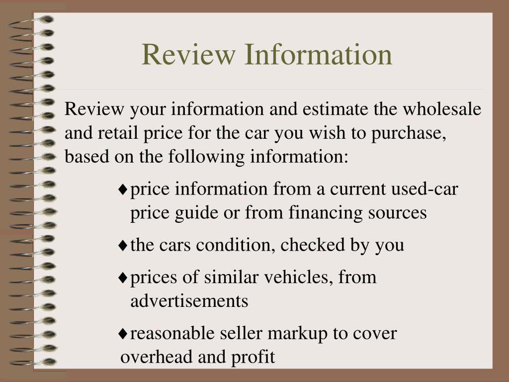 Review Information