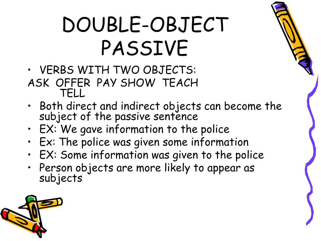 DOUBLE-OBJECT PASSIVE