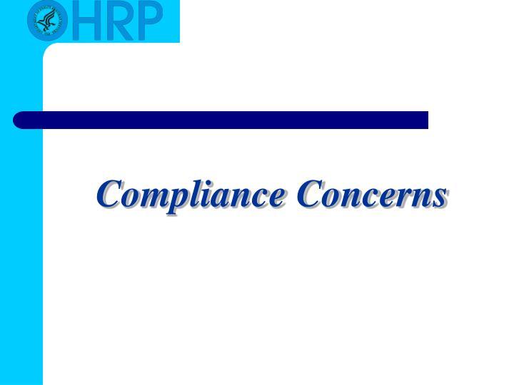 Compliance Concerns