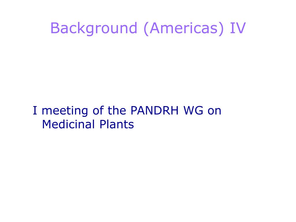 Background (Americas) IV
