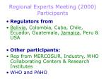 regional experts meeting 2000 participants
