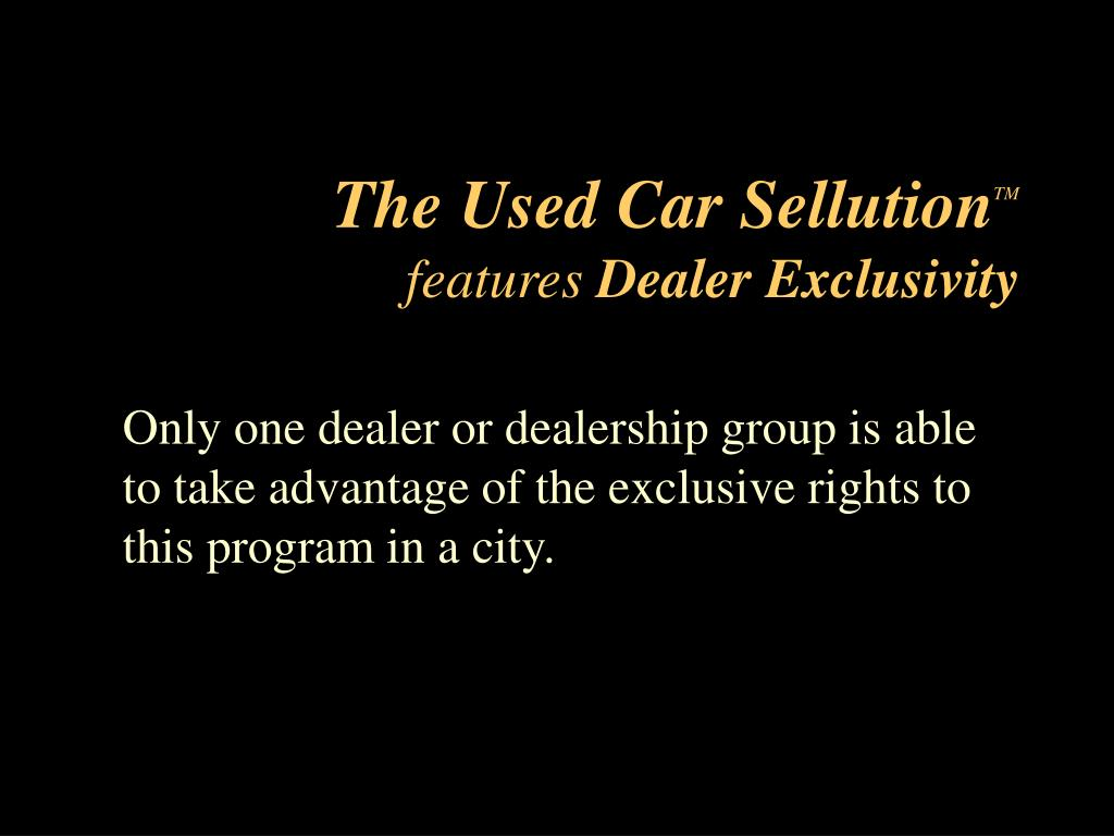 The Used Car Sellution