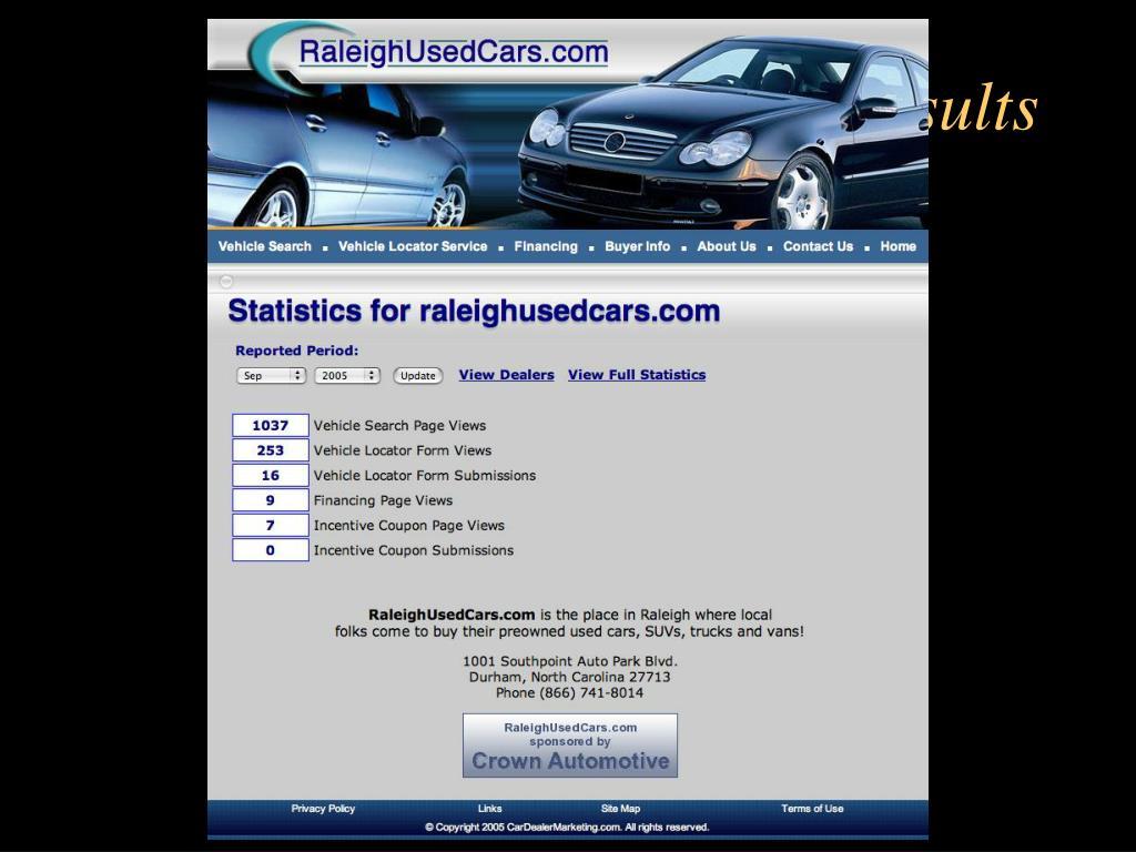 Tracking Dealer Results