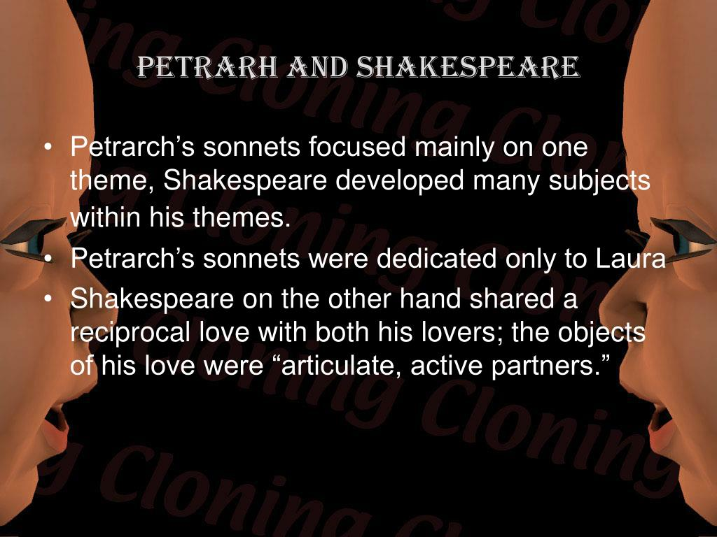 Petrarh and Shakespeare