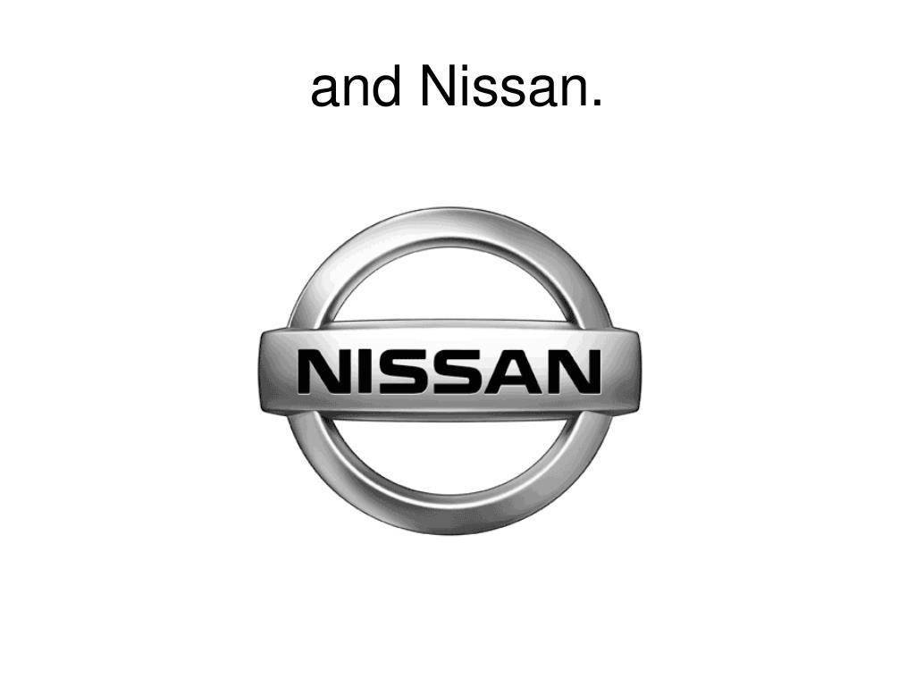 and Nissan.