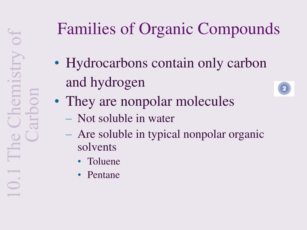 Families of Organic Compounds