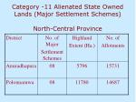 category 11 alienated state owned lands major settlement schemes north central province