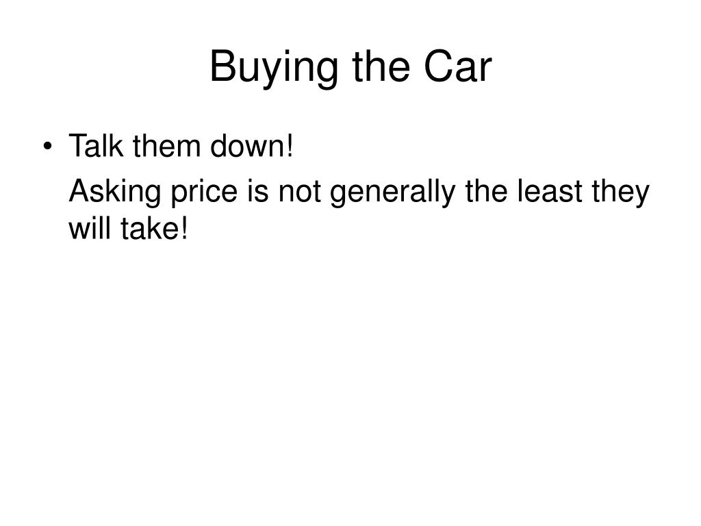 Buying the Car