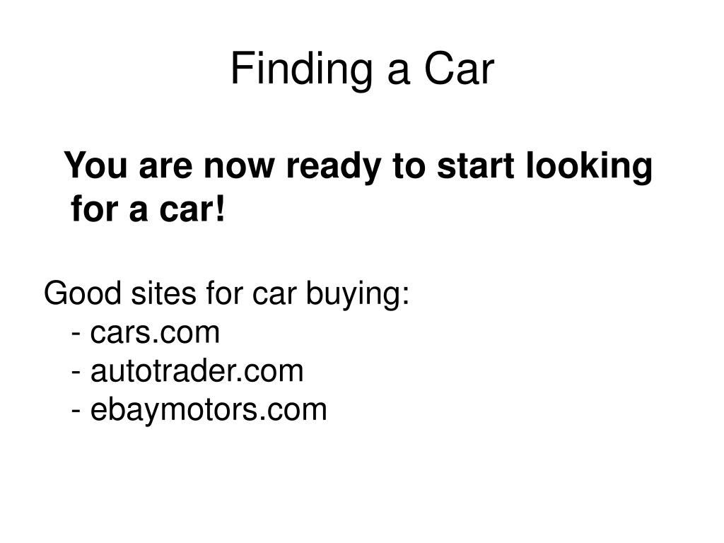 Finding a Car