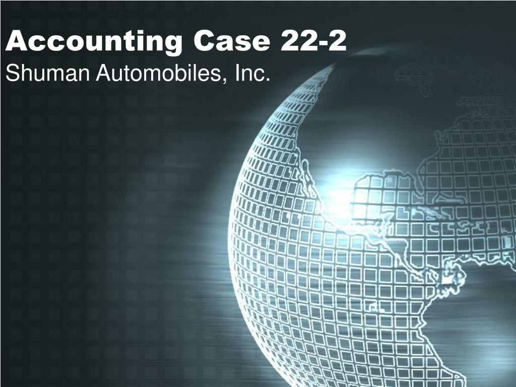 Accounting Case 22-2