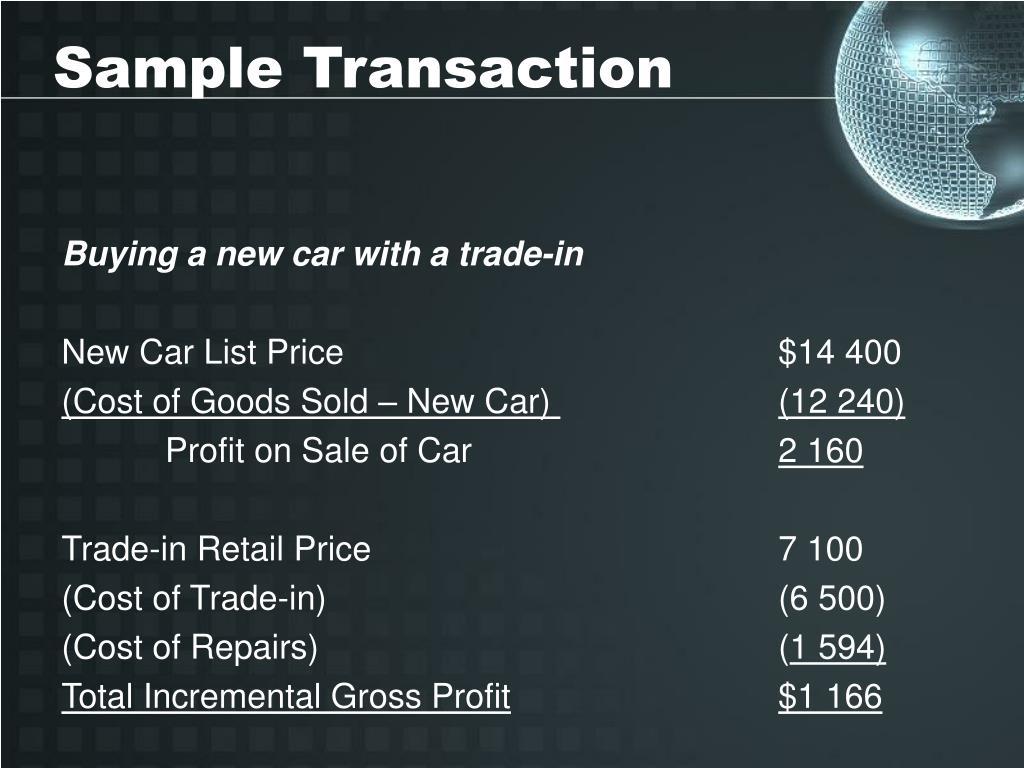Sample Transaction