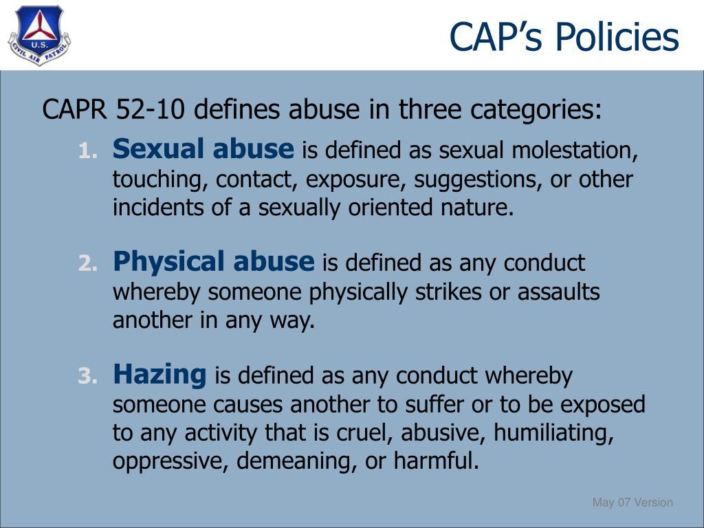 CAP's Policies