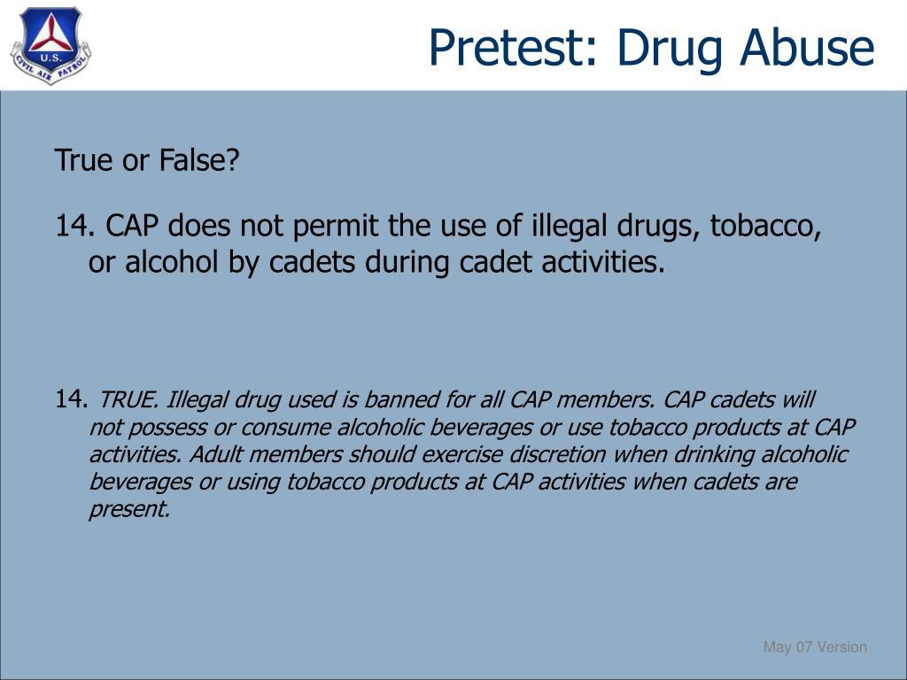 Pretest: Drug Abuse