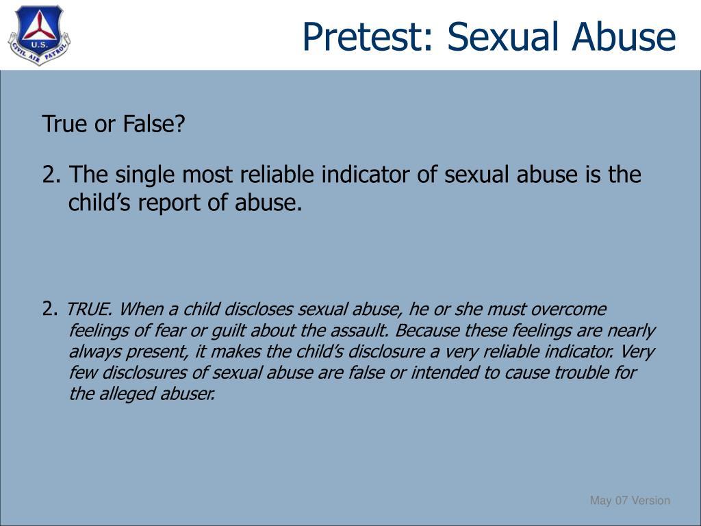 Pretest: Sexual Abuse