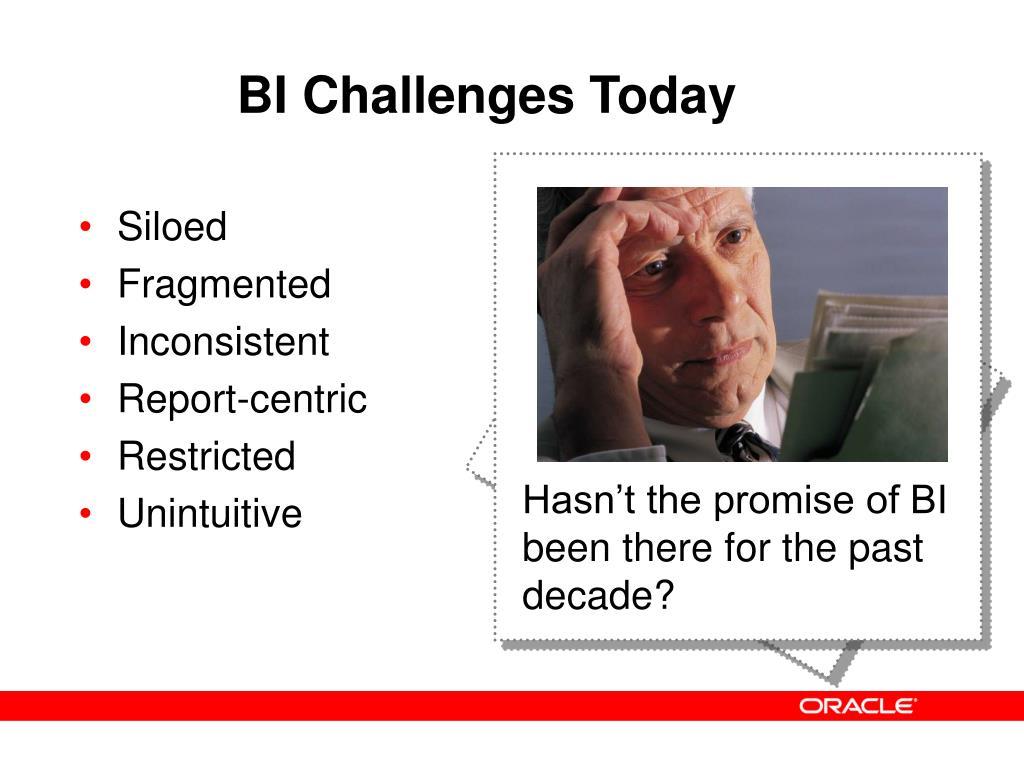 BI Challenges Today