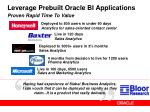 leverage prebuilt oracle bi applications proven rapid time to value