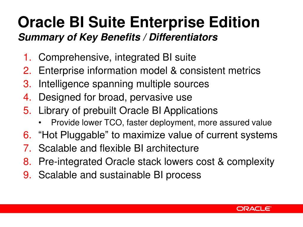 Oracle BI Suite Enterprise Edition