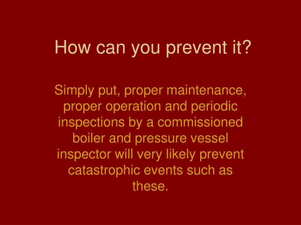 How can you prevent it?