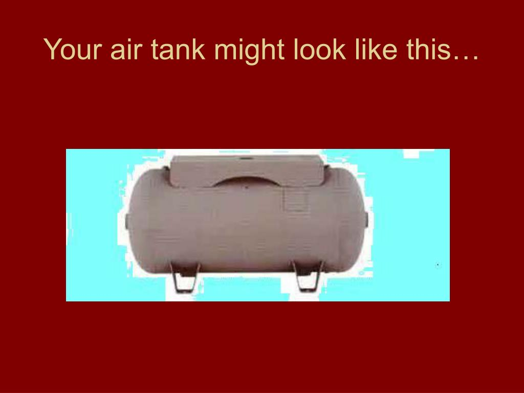 Your air tank might look like this…
