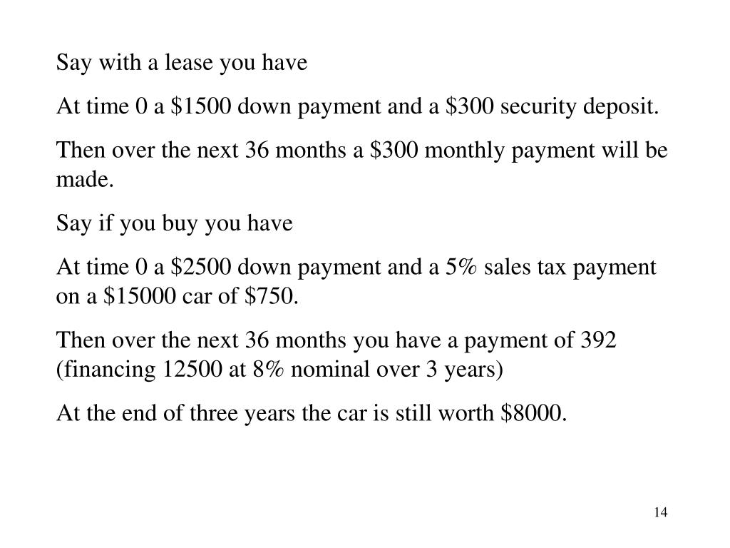 Say with a lease you have