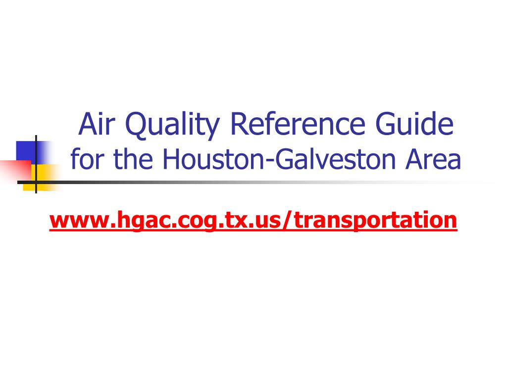 Air Quality Reference Guide