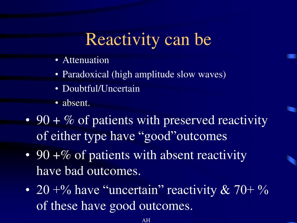 Reactivity can be